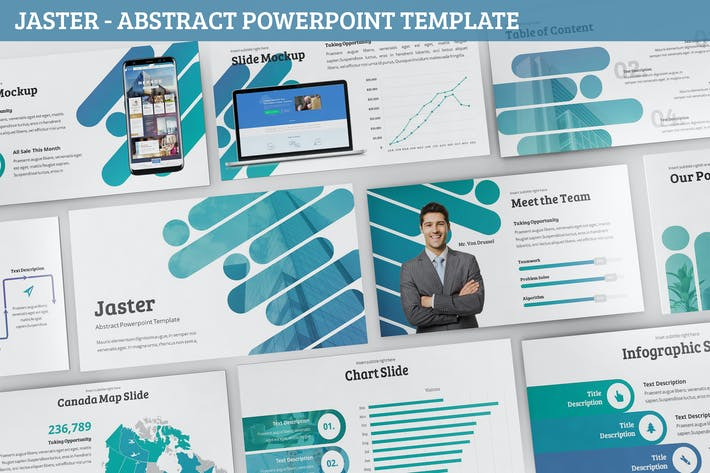 Thumbnail for Jaster - Abstract Powerpoint Template