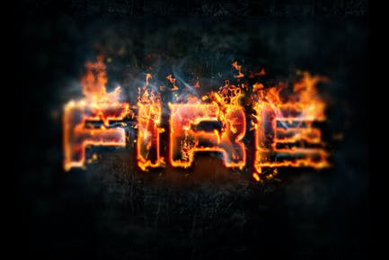 Hot Lava & Fire Photoshop Layer Styles