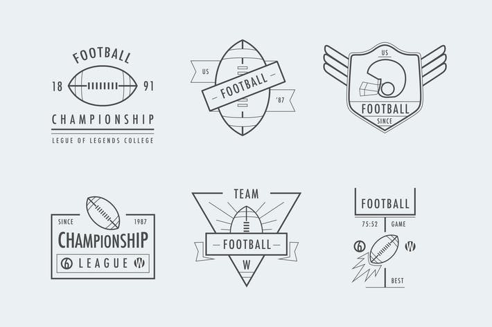 Thumbnail for Football Line Badges
