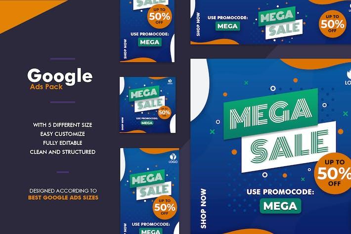 Thumbnail for Google Ads Web Banner Mega Sale