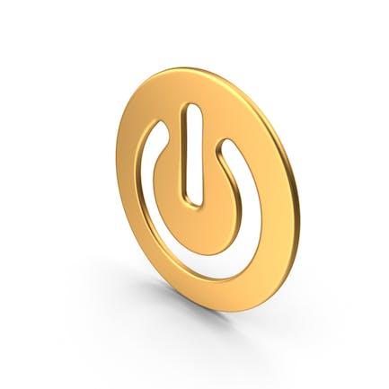 Botón de encendido Oro