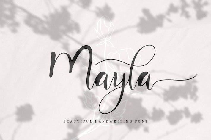 Thumbnail for Mayla - Magnifique écriture manuscrite