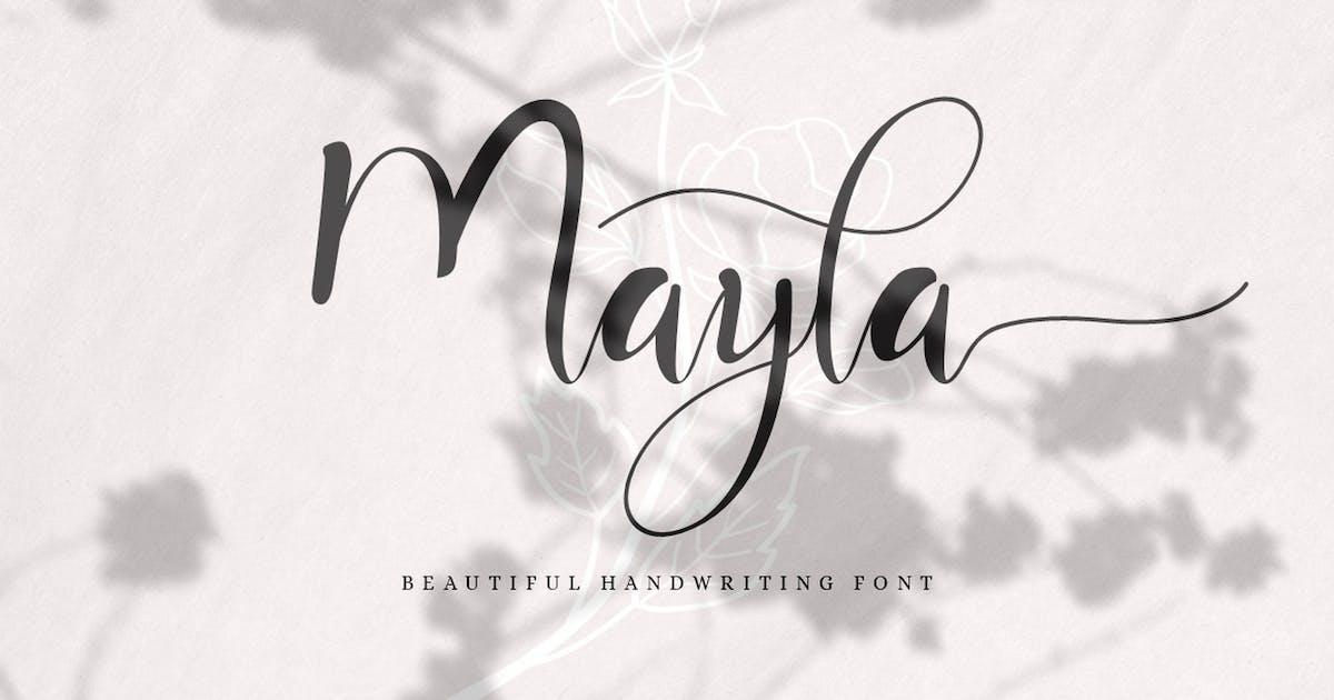 Download Mayla - Beautiful Handwriting Script by Ahnaf-Studio