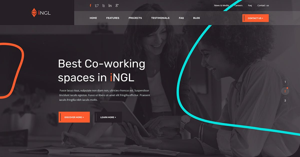 Download Ingl - Coworking Space PSD Template by themesflat