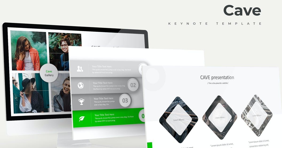 Download Cave - Keynote Template by aqrstudio