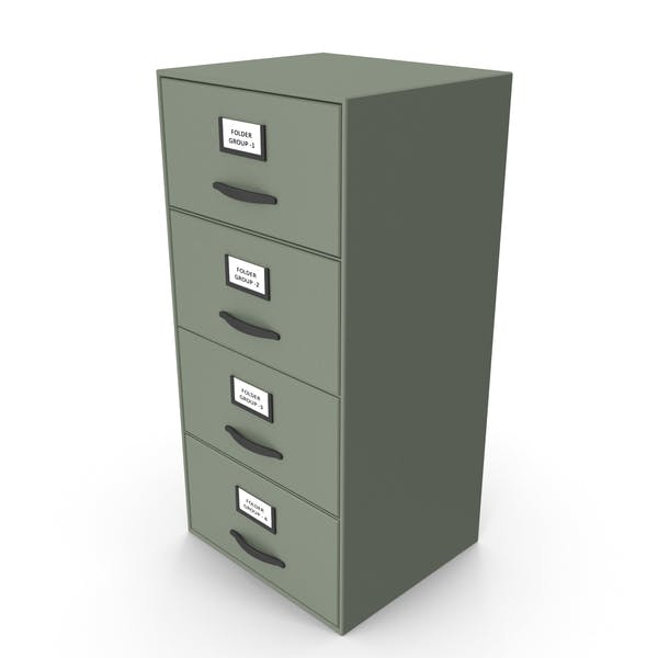 Filing Cabinet Drawer Green