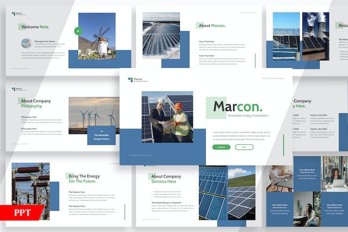 Thumbnail for Marcon Возобновляемые источники энергии - Powerpoint