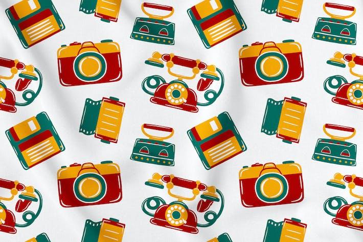 Thumbnail for Vintage Retro Seamless Pattern Vol. 1