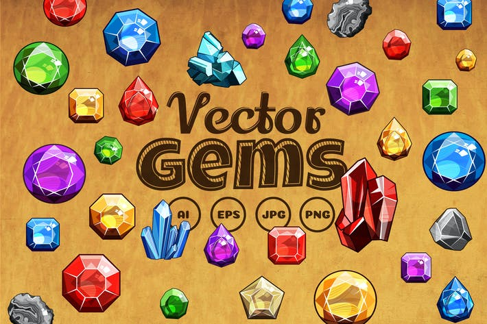 Thumbnail for Gems And Diamonds Icons Set