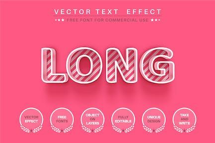 Контур розовый - редактируемый текстовый эффект, стиль шрифта