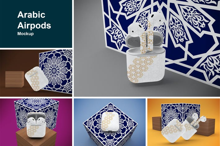 Thumbnail for Arabic Airpods mockup