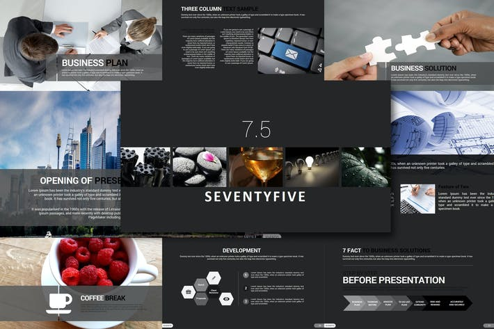 Cover Image For Seventy 5 - Powerpoint Template