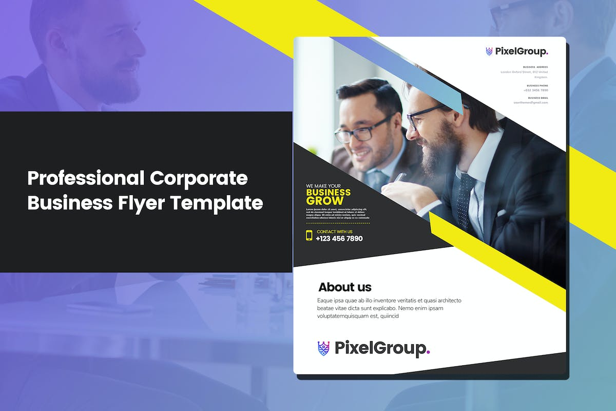 Download New Professional Corporate Business Flyer Template by UserThemes by Unknow