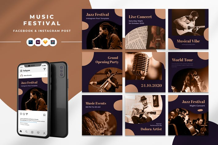Thumbnail for Message Instagram du Festival de musique