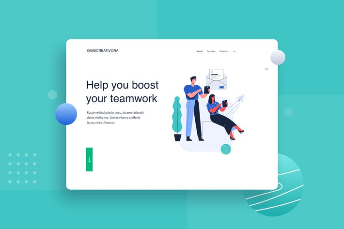 Send email for subscribe Landing Page Illustration