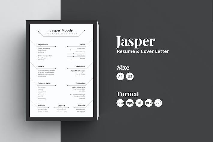 Thumbnail for Abstract Resume/CV - Jasper