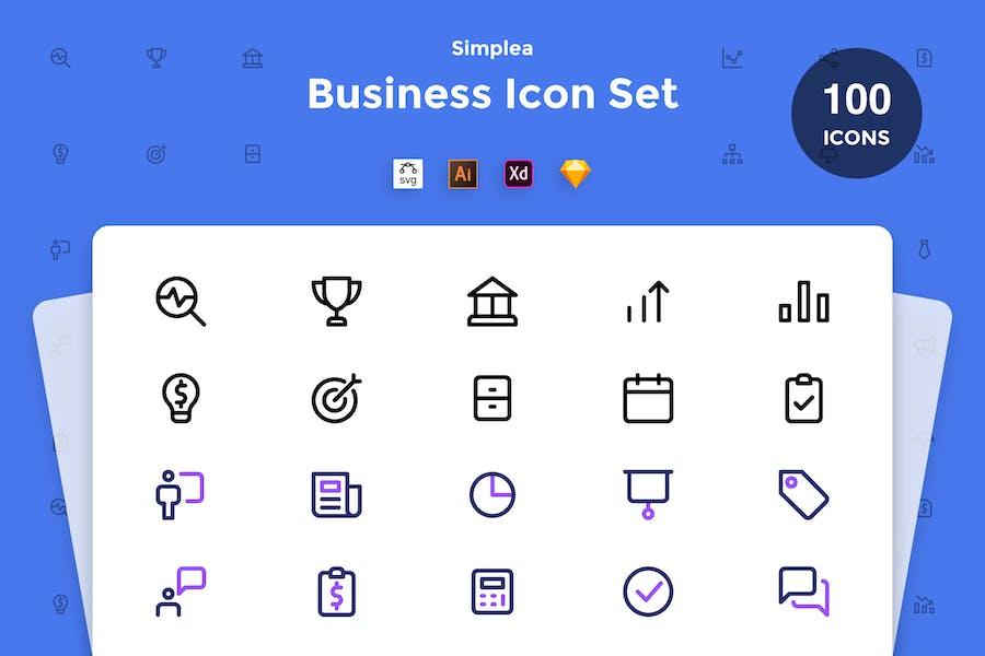 Business Icon Set - Simplea