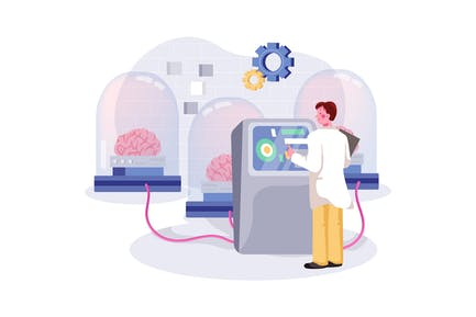 Neural Network Illustration Concept