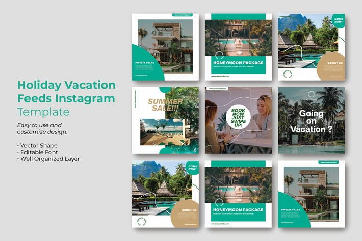 Vacation Holiday Instagram Post Template