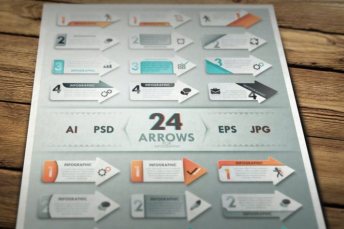 Thumbnail for 24 Arrows For Infographic