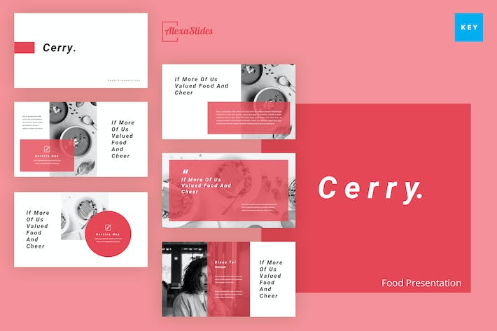 Thumbnail for Cerry - Food Keynote Presentation Template