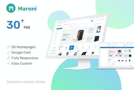 Maroni   Multipurpose Electronics eCommerce PSD Te