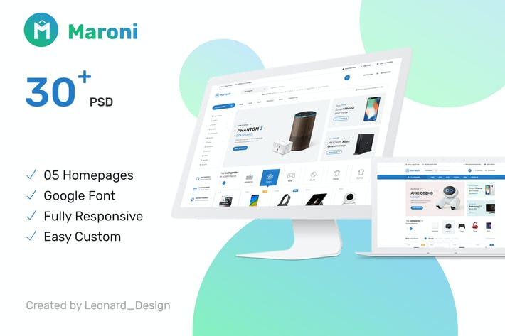 Cover Image For Maroni | Multipurpose Electronics eCommerce PSD Te