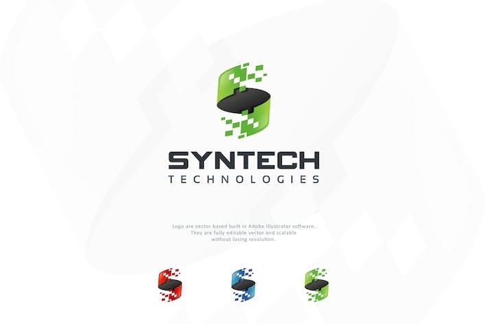 Thumbnail for Digital Letter S Logo Template