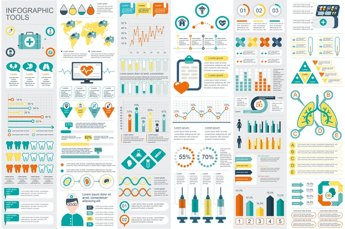 Thumbnail for Medical Infographic Elements