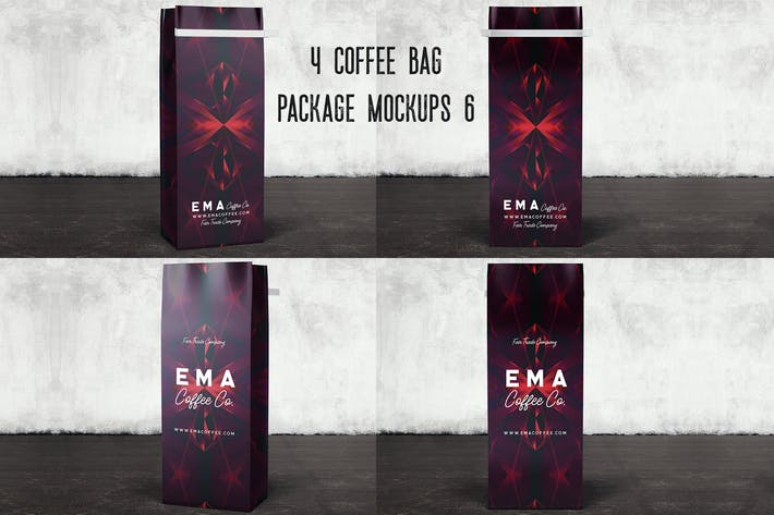 Thumbnail for 4 Coffee Bag Package Mockups 6