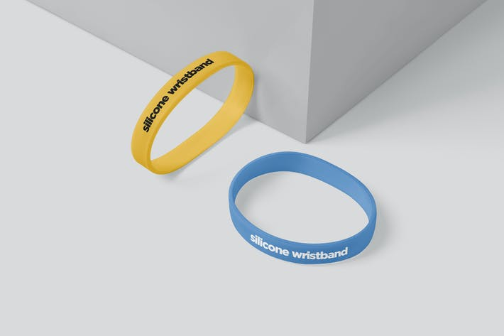Silicon Wristband Mockups