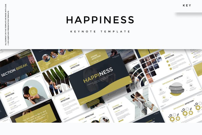 Thumbnail for Happines - Keynote Template