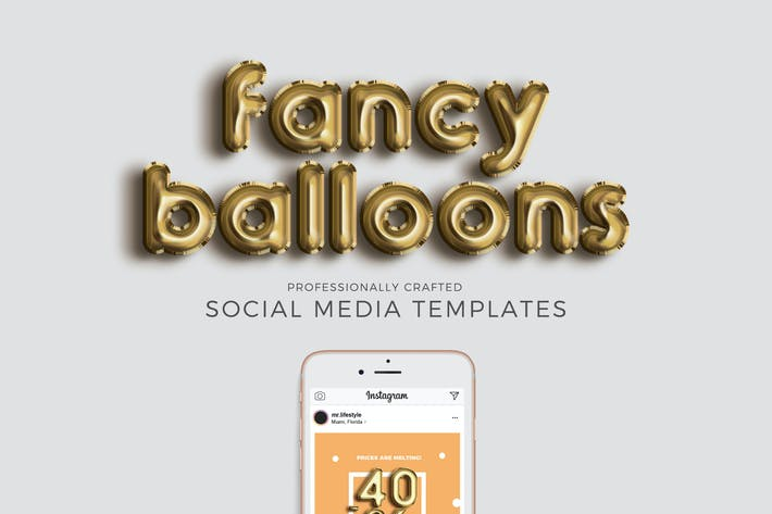 Thumbnail for Fancy Social Media Templates