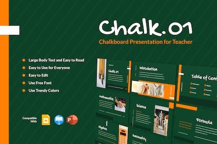 CHALK01 - Chalkboard Presentation for Teacher