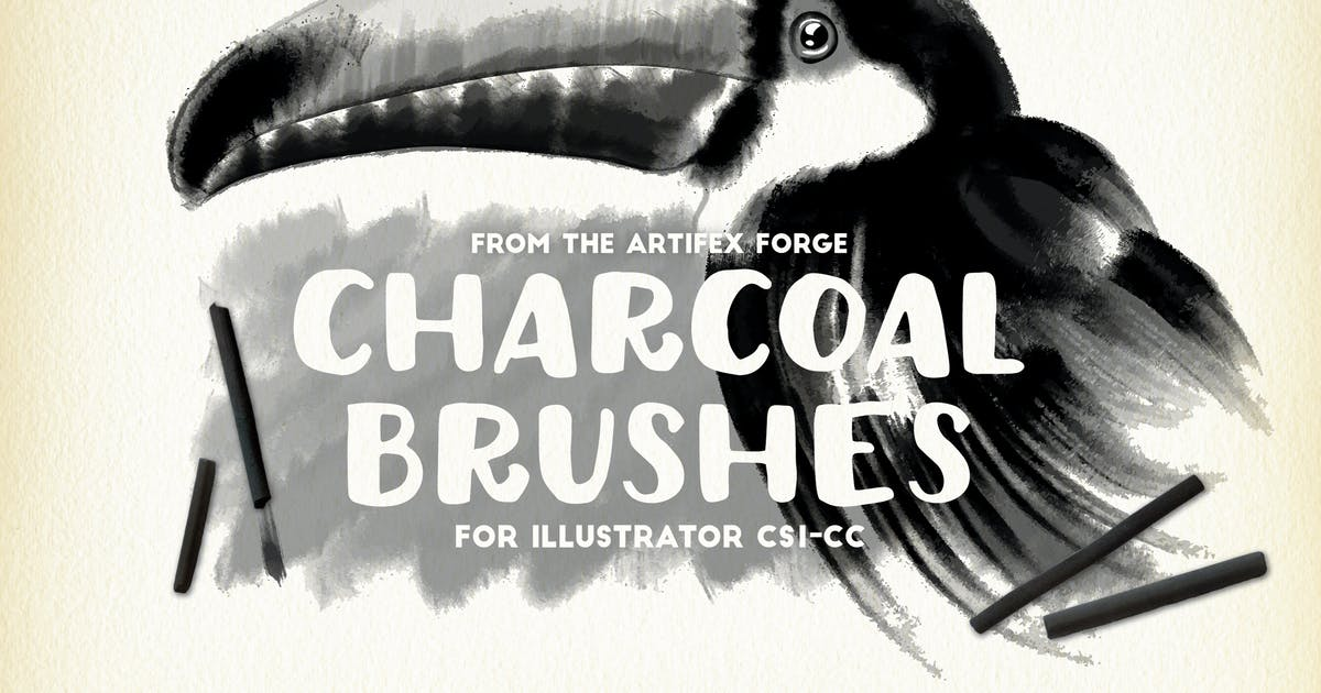 Download Charcoal Brushes by JRChild