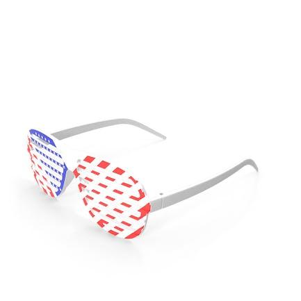 Sonnenbrille mit amerikanischer Flagge