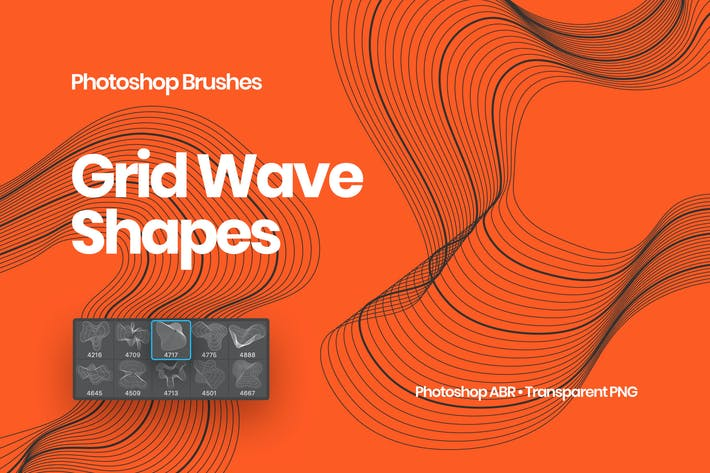Thumbnail for Grid Wave Shapes Photoshop Brushes
