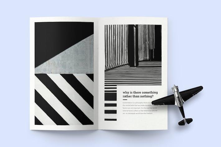 Thumbnail for Bi-Fold Broschüre (A5) Mockup