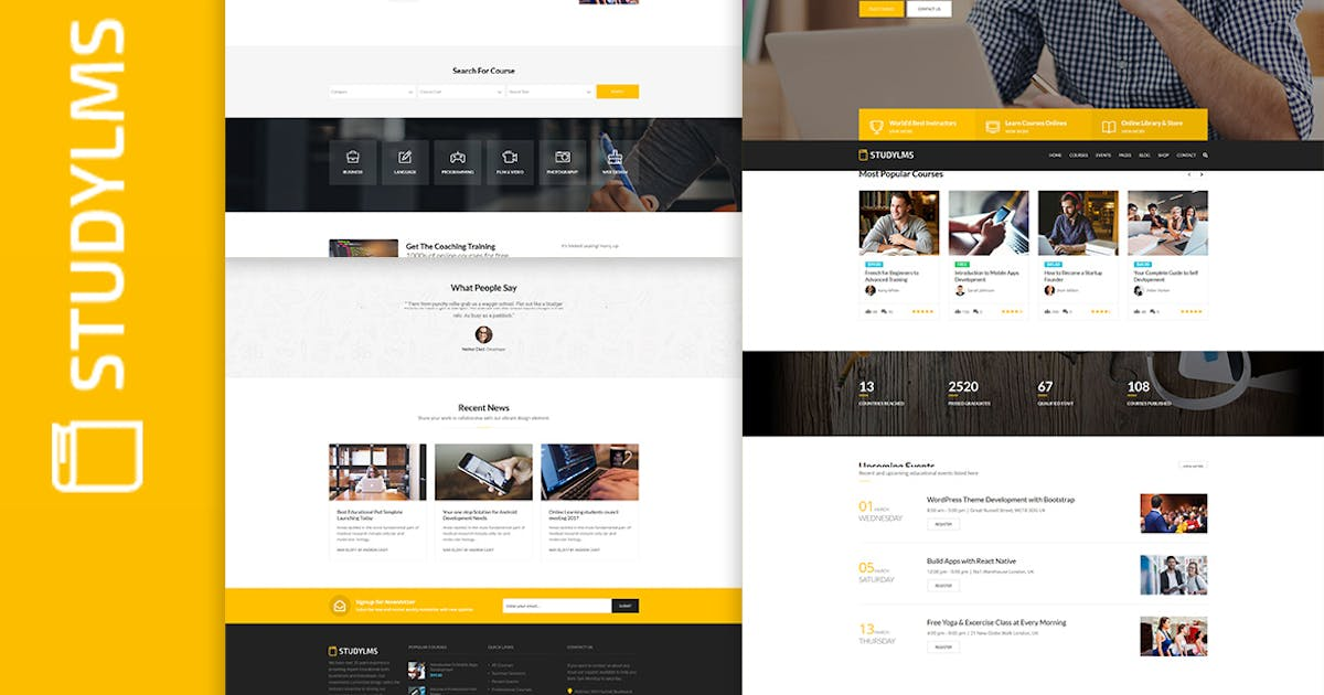 Download Studylms - Education LMS & Courses HTML Template by htmlbeans