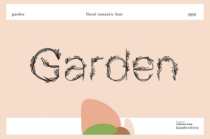 Thumbnail for Garden|floral romantic font