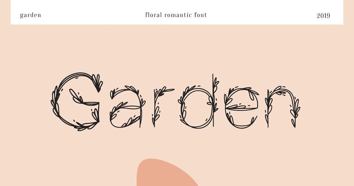 Download Garden|floral romantic font by a_slowik