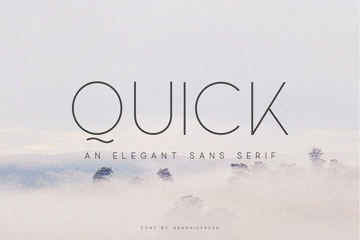 Thumbnail for Quick - An Elegant Sans Serif