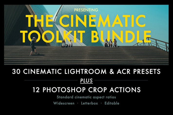 Thumbnail for Cinematic Aspect Ratio Action & Lightroom Presets