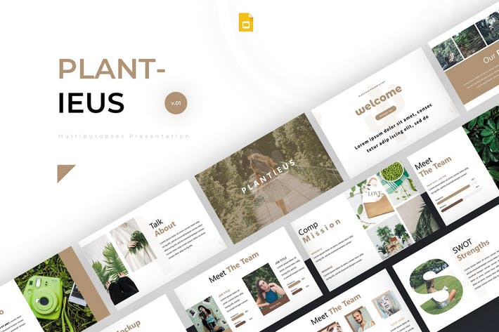Thumbnail for Plantieus - Google Slides Template