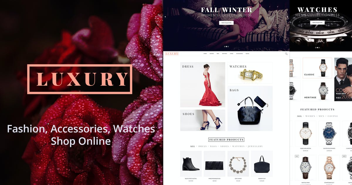 Download LUXURY - Fashion eCommerce and Blog Templates by AuThemes
