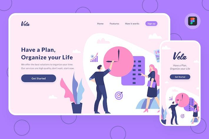 Thumbnail for Planning illustration (Figma, SVG)