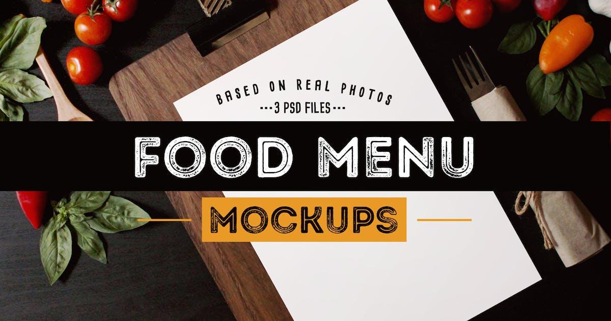 Download Food Menu Mockups by BarcelonaDesignShop