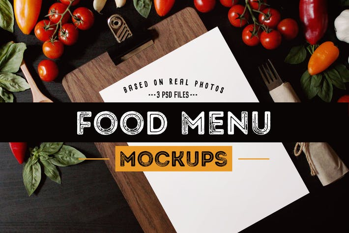 food menu mockups by barcelonadesignshop on envato elements