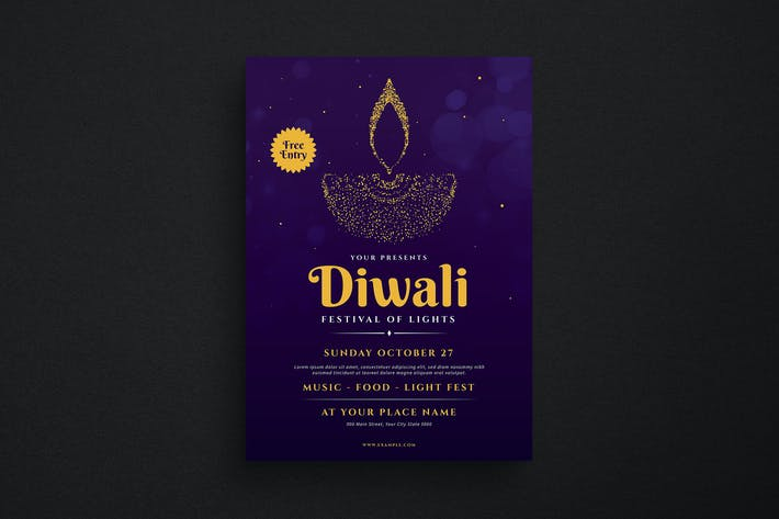 Thumbnail for Diwali Event Flyer