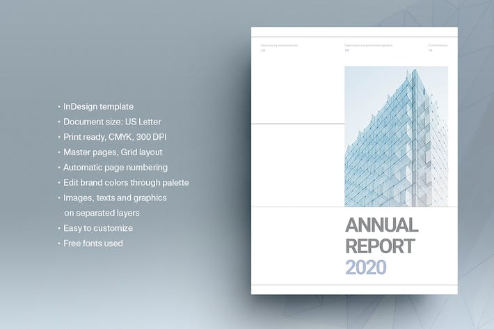 Thumbnail for Blue Annual Report Template